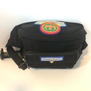 Authentic Gucci Black Terry Patch Rucksack